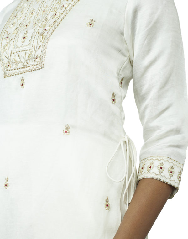 Embroidered White Suit