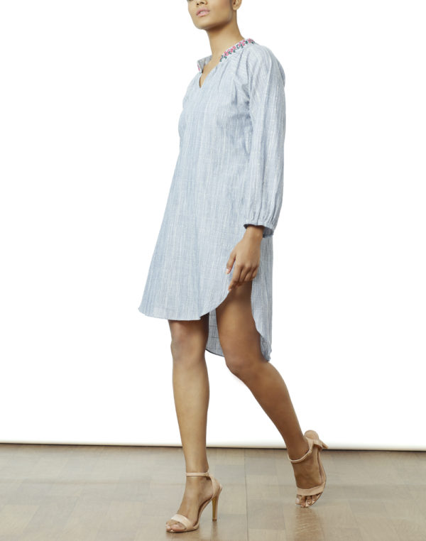 Embroidered Blue Tunic/Dress