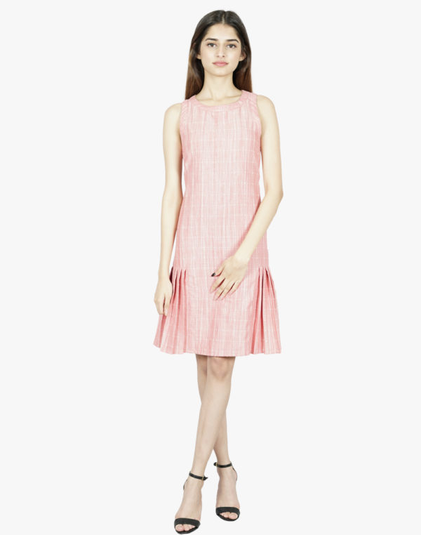 Allure Pink Pleated Dress