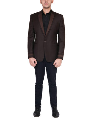 Brown Blazer With Double Lapel Suit