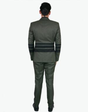 Olive With Black Horizontal Blazer