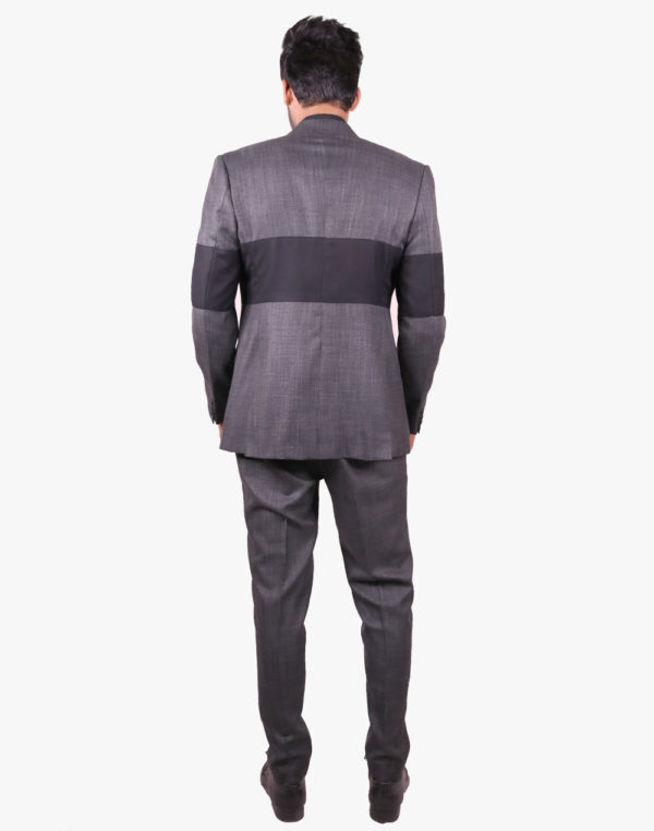 Grey With Black Horizontal Blazer