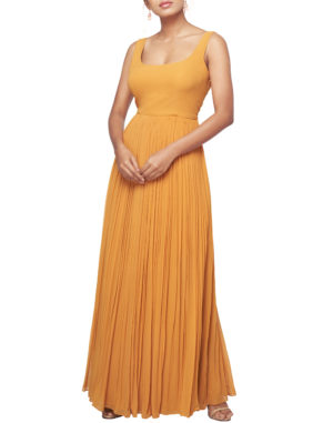 Georgette Gathered Gown