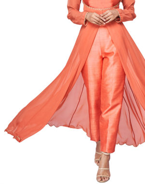 Dark Coral Straight Legged Pants