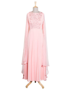 Embroidered Blush Anarkali Set