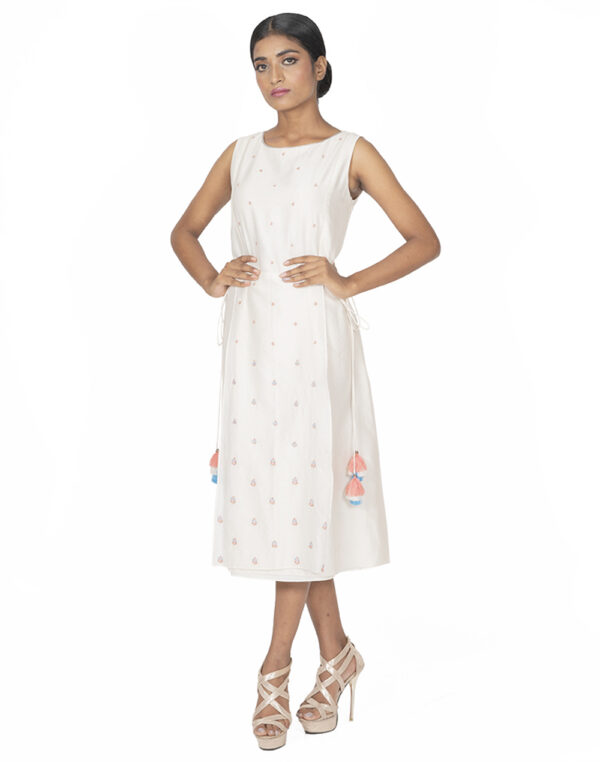 Embroidered Ivory Tabard Tunic
