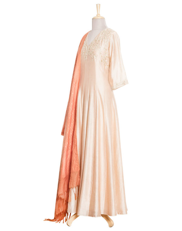 Champagne Anarkali side