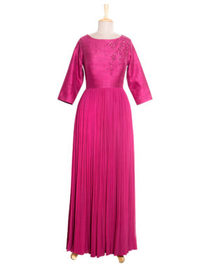 Ruby Embroidered Gown