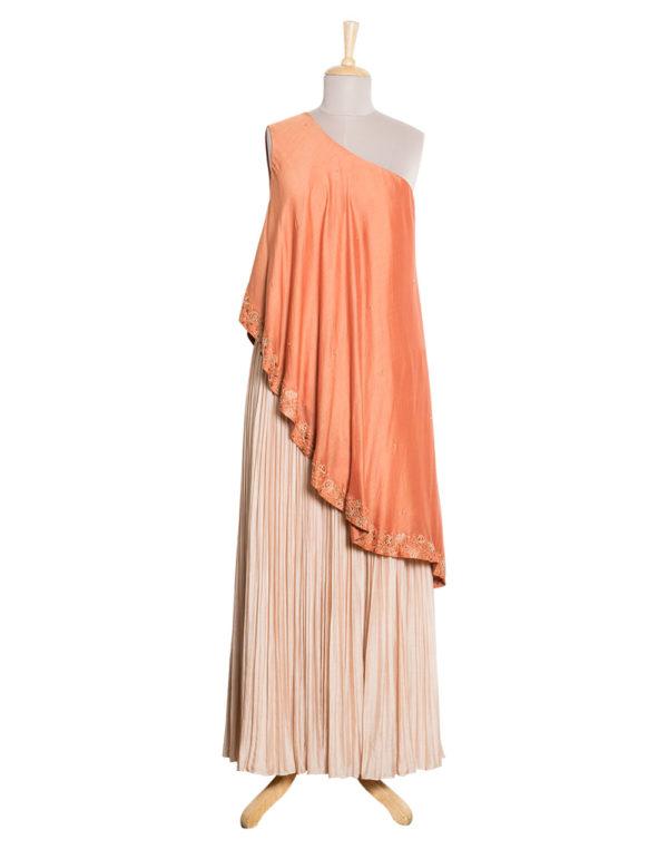 One shoulder Tunic & Skirt Set