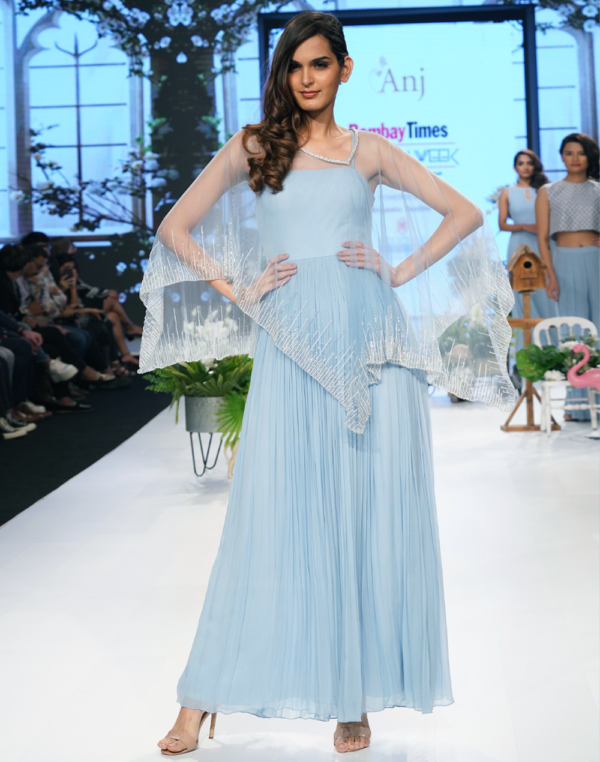 Aadya Cape Gown front