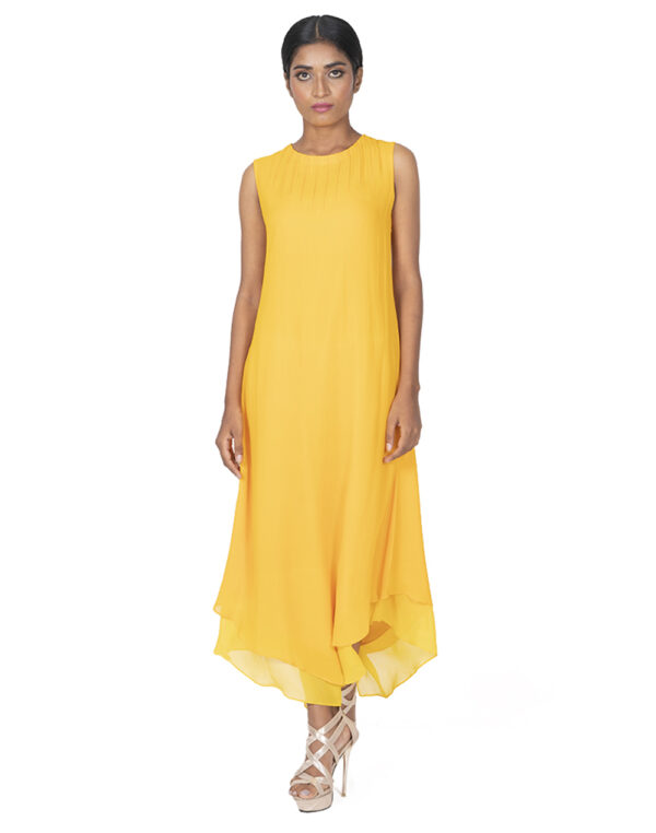 THE ANIKA DOUBLE LAYERED MAXI FRONT